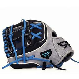 11.5-Inch Tiger PRO Series Baseball Gray Blue Leather Glove