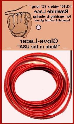 TWO Repair kits ~ Solid RED Lace BASEBALL Softball GLOVE LA