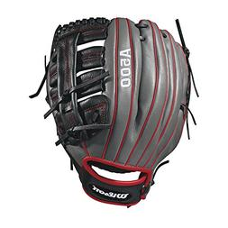 Wilson 2018 A500 Baseball Gloves - Right Hand Throw Black/Re