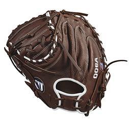 Wilson 2018 A900 Catcher's Mitts - Right Hand Throw Dark Bro