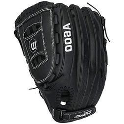 "Wilson A600 WTA0600BB125XX 12.5"" Leather BaseBall Glove RHT"