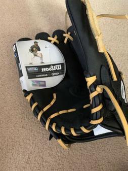 """Wilson A950 11.75"""" Infield/Pitcher Baseball Glove Black"""