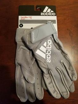 Adidas Adizero 4.0 Adult Baseball Gray Batting Gloves Men'