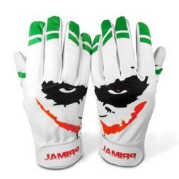 "Primal Baseball Adult Joker Batting Gloves ""Smiley"" Size Ext"
