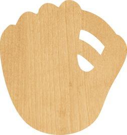 Baseball Glove #0038 Laser Cut Out Wood Shape Craft Supply -