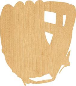 Baseball Glove #0058 Laser Cut Out Wood Shape Craft Supply -