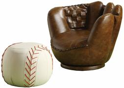 Baseball Glove Chair Ottoman Kids Home Bedroom Furniture Com