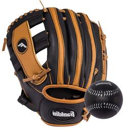 "Franklin Sports 9-1/2"" Black and Tan PVC Right-Handed Throwe"