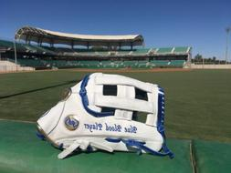 """Blue Blood Player"" Gold 12.75 LHT baseball custom qb glove"