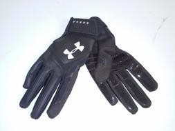 Under Armour Boys' Heater Baseball Batting Gloves BLACK SZ-Y