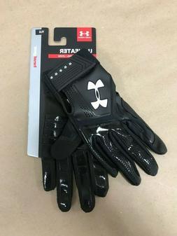 Under Armour Boys' Heater Baseball Batting Gloves, Black You