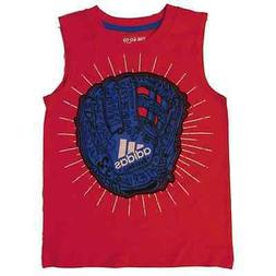 Adidas Boys Red/Blue Baseball Glove Tank Top Sleeveless Shir
