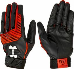 Under Armour Clean Up Baseball Batting Gloves, Adult L, Blac