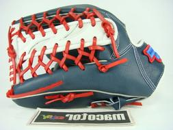 "SSK Custom 12.75"" Outfield Baseball / Softball Glove Navy Wh"