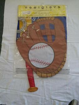 Evergreen Garden Flag Play Ball Baseball Glove