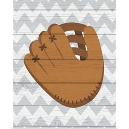 Glove Poster Art Print, Baseball Home Decor
