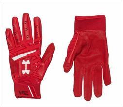 Under Armour Harper Hustle Youth Baseball Batting Gloves Red