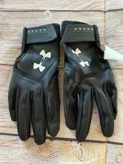 Under Armour Heater Batting Gloves Baseball  Black Kids Smal