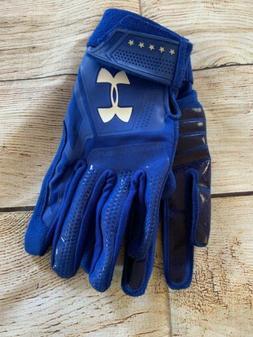 Under Armour Heater Batting Gloves Baseball  Blue Kids Mediu