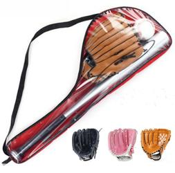 Kids Children Baseball+Bat Glove+Ball Set Adult Left Hand Pr