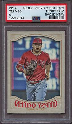 2016 Topps Gypsy Queen 133 Mike Trout With Glove Jogging PSA