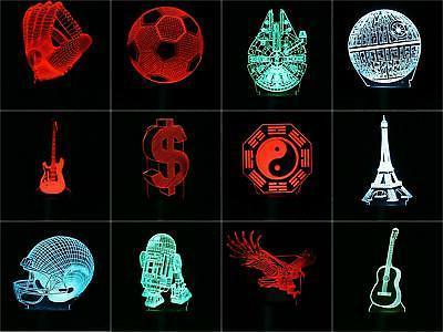3d visualization led night lamp