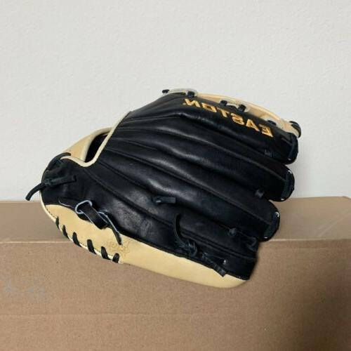 Easton Professional Collection Baseball Glove - - Tan And Black Leather