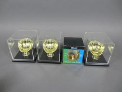 Lot of 4 Caseworks/Ultra Pro Baseball Golden Glove Ball Hold