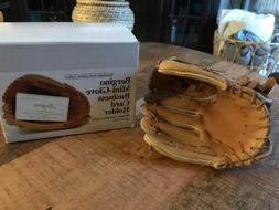 Bergino Mini Baseball Glove Card Holder | Handmade Genuine L