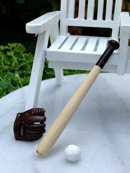 Miniature Dollhouse FAIRY GARDEN Accessories ~ Wood Baseball
