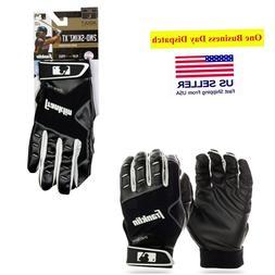 Franklin Sports MLB Baseball Batting Gloves - 2nd Skinz - Bl
