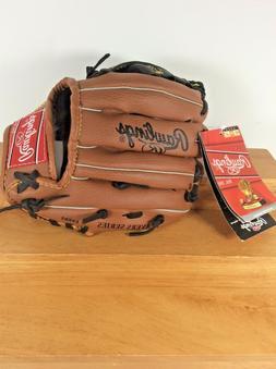 "NEW Rawlings Youth Baseball Glove Mitt 8.5"" PL85 Brown & Bla"