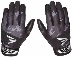 NEW Youth Easton Mako Beast Batting Gloves Black / Silver Si