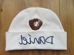 PERSONALIZED MONOGRAM CUSTOM Baby Newborn Hospital Hat Cap B