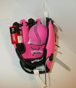 Pink My First Glove 8.5 Teeball Glove w/ Ball Toddler Kid Ch