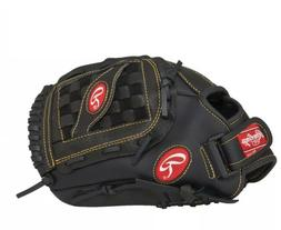 "Rawlings  Playmaker Series Glove, Black, 12.5"", Worn on Left"