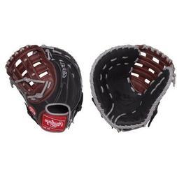 "Rawlings R9 12.50"" Adult Baseball First Base Mitt - H Web Gl"