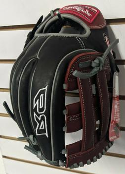 "RAWLINGS R9 Infield Baseball glove 11.75"" Black Red H Web"