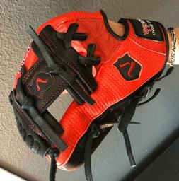 Red and Black Showoff Adult infield baseball glove 11.75 Pro