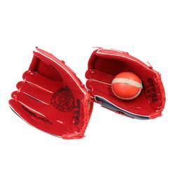 Red Baseball Glove & Ball Set Child Easy Catch Ball Toddler