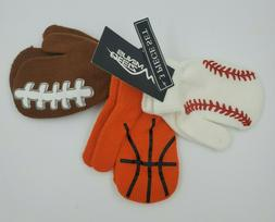 Set of 3 Boys Gloves, Mittens Sports Size 2T-4T, Baseball Ba