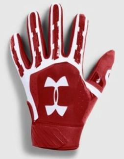 UNDER ARMOUR UA Heater Red White Baseball Batting Gloves Kid