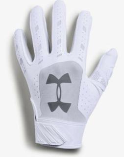 UNDER ARMOUR UA Heater White Grey Baseball Batting Gloves Ki
