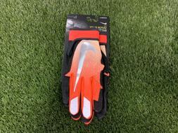 Nike Vapor Elite Baseball Batting Gloves Orange Black Silver