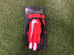 Nike Vapor Elite Baseball Batting Gloves Red Black Silver Me