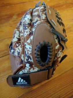 Adidas youth baseball Glove lefty Size10.0 Brown/Camo
