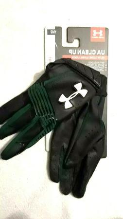 Under Armour Youth MEDIUM Clean Up Baseball Batting Gloves-B