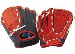 "Easton Z-Flex 10"" Youth Baseball Tee Ball Glove - Red & Blac"